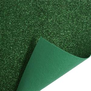 Glitteres filc anyag zöld